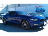 2015 Deep Impact Blue Metallic Ford Mustang EcoBoost Coupe #101405129