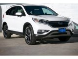2015 White Diamond Pearl Honda CR-V Touring #101443267