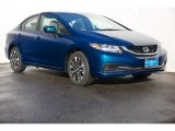 2015 Dyno Blue Pearl Honda Civic EX Sedan #101443259