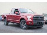 Ruby Red Metallic Ford F150 in 2015