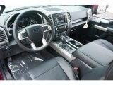 2015 Ford F150 Lariat SuperCab 4x4 Black Interior