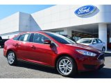 2015 Ruby Red Metallic Ford Focus SE Sedan #101443217