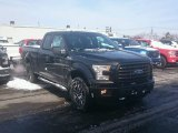 2015 Tuxedo Black Metallic Ford F150 XLT SuperCab 4x4 #101443288
