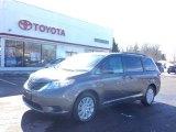 2012 Predawn Gray Mica Toyota Sienna LE AWD #101443542
