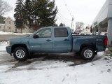 2010 Blue Granite Metallic Chevrolet Silverado 1500 LS Crew Cab 4x4 #101487575