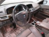 2003 BMW 7 Series 745i Sedan Basalt Grey/Flannel Grey Interior