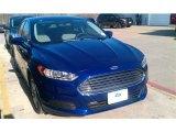 2015 Deep Impact Blue Metallic Ford Fusion S #101518650