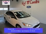 2015 Oxford White Ford Focus S Sedan #101518642