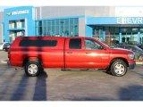 2008 Inferno Red Crystal Pearl Dodge Ram 1500 SLT Quad Cab 4x4 #101545577