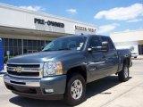 2008 Blue Granite Metallic Chevrolet Silverado 1500 LT Crew Cab 4x4 #10145736