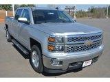 2015 Silver Ice Metallic Chevrolet Silverado 1500 LT Crew Cab 4x4 #101666567
