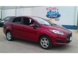 2015 Ruby Red Metallic Ford Fiesta SE Sedan #101696997