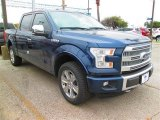 2015 Blue Jeans Metallic Ford F150 Platinum SuperCrew 4x4 #101764615