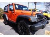2015 Jeep Wrangler Sunset Orange Pearl