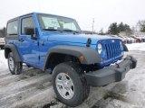 2015 Jeep Wrangler Hydro Blue Pearl