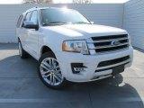 2015 White Platinum Metallic Tri-Coat Ford Expedition Platinum #101826896
