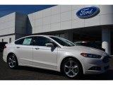 2015 White Platinum Metallic Ford Fusion SE #101887112