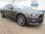 2015 Magnetic Metallic Ford Mustang EcoBoost Premium Coupe #101908031