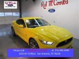 2015 Triple Yellow Tricoat Ford Mustang GT Premium Coupe #101908022
