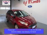 2015 Ruby Red Metallic Ford Fiesta SE Sedan #101908018
