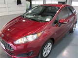 Ruby Red Metallic Ford Fiesta in 2015