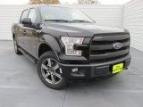 2015 Tuxedo Black Metallic Ford F150 Lariat SuperCrew 4x4 #101908255
