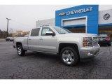 2015 Silver Ice Metallic Chevrolet Silverado 1500 LTZ Crew Cab 4x4 #101908309