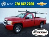 2008 Victory Red Chevrolet Silverado 1500 LS Regular Cab 4x4 #101908375
