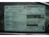 2015 Nissan Murano Platinum Window Sticker