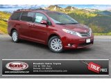 2015 Salsa Red Pearl Toyota Sienna Limited AWD #101993623