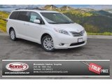 2015 Blizzard White Pearl Toyota Sienna Limited AWD #101993622