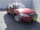 2014 Deep Cherry Red Crystal Pearl Chrysler 200 LX Sedan #101993816