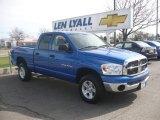 2007 Electric Blue Pearl Dodge Ram 1500 SLT Quad Cab 4x4 #10182985