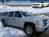 2008 Silver Birch Metallic Chevrolet Silverado 1500 LS Crew Cab 4x4 #102043100