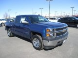 2015 Deep Ocean Blue Metallic Chevrolet Silverado 1500 WT Double Cab 4x4 #102081072