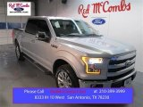 2015 Ingot Silver Metallic Ford F150 Lariat SuperCrew 4x4 #102110160