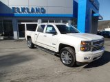 2015 White Diamond Tricoat Chevrolet Silverado 1500 High Country Crew Cab 4x4 #102110154