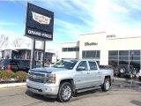 2014 Silver Ice Metallic Chevrolet Silverado 1500 High Country Crew Cab 4x4 #102110048