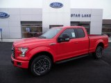 2015 Race Red Ford F150 XLT SuperCab 4x4 #102147268