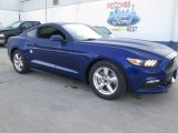 2015 Deep Impact Blue Metallic Ford Mustang V6 Coupe #102189847
