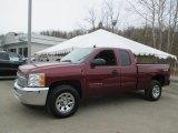 2013 Deep Ruby Metallic Chevrolet Silverado 1500 LS Extended Cab 4x4 #102189900