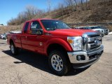 2015 Vermillion Red Ford F250 Super Duty Lariat Super Cab 4x4 #102189948