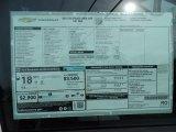 2015 Chevrolet Silverado 1500 WT Regular Cab Window Sticker