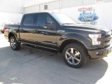 2015 Tuxedo Black Metallic Ford F150 Lariat SuperCrew 4x4 #102241118