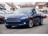 2015 Deep Impact Blue Metallic Ford Fusion SE #102241199