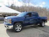 2014 Blue Topaz Metallic Chevrolet Silverado 1500 LT Crew Cab 4x4 #102263451