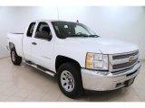 2012 Summit White Chevrolet Silverado 1500 LS Extended Cab 4x4 #102263847
