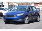 2015 Performance Blue Ford Focus Titanium Sedan #102308276
