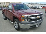 2014 Deep Ruby Metallic Chevrolet Silverado 1500 WT Regular Cab #102308438
