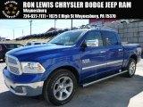 2015 Blue Streak Pearl Ram 1500 Laramie Crew Cab 4x4 #102343061